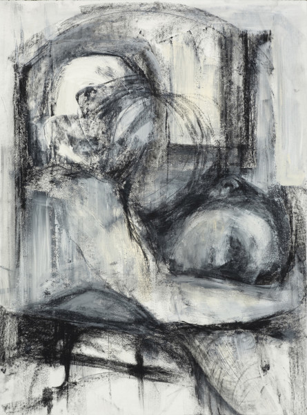Trace, mixed media drawing, 30x22 inches, 2012